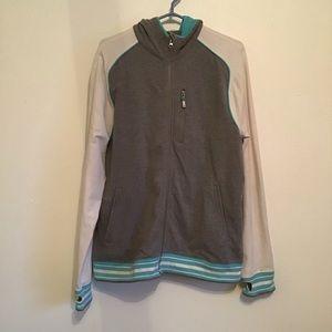Lululemon Black Jacket With Blue/Grey Stripes